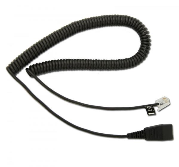 FCW Spiralkabel mit FCC 4/4 Stecker und QD