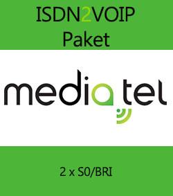 media.tel ISDN2VOIP Paket - 2 x S0/BRI